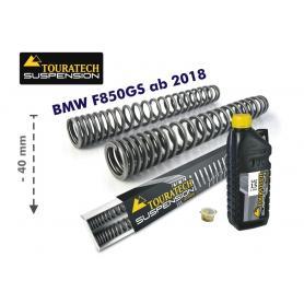 Resortes de horquilla progresivos, ajuste de suspensión inferior en 40mm, para BMW F 850 GS/BMW F 850 GS Adventure (2018-)