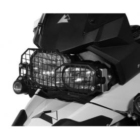 Protector de faros de acero inoxidable de liberación rápida, BMW F800GS / ADV, F700GS, F650GS-Twin (2008-)